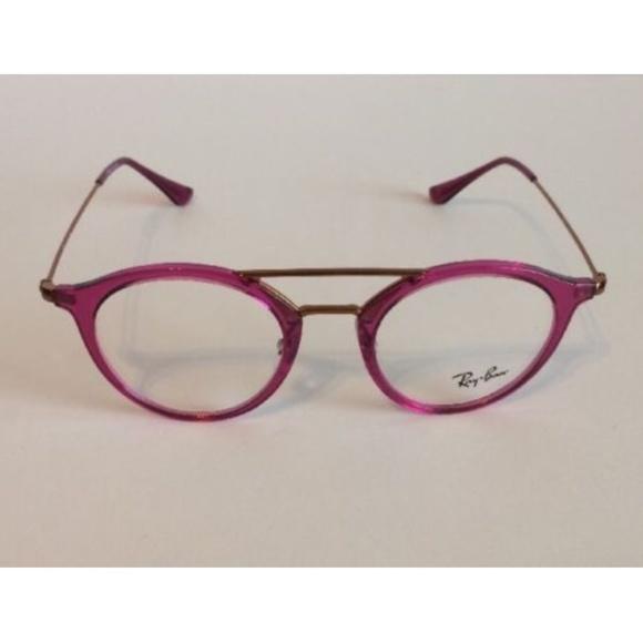 1670e3b6b1 Ray-Ban Pink Fuschia Round Eyeglasses RB 7097 5631.  M 5a7bc34c077b97553550ac64